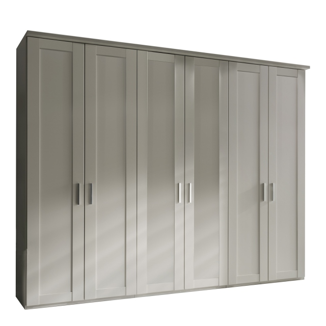 6 Plain Door 300cm Hinged-door Wardobe - Milton