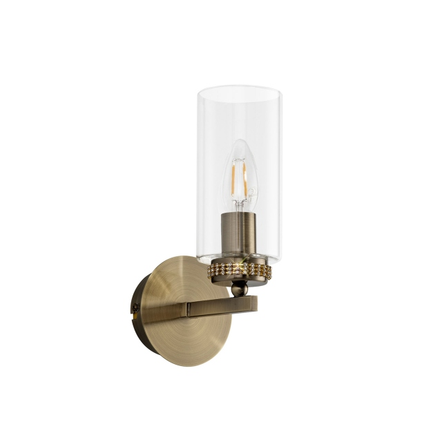 Kova 1 Wall Light Antique Brass