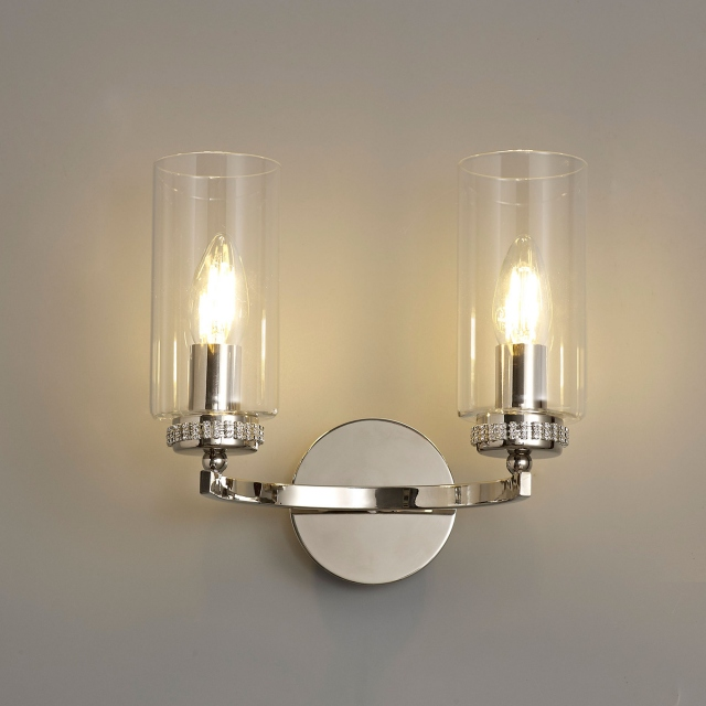 Kova 2 Wall Light Polished Nickel