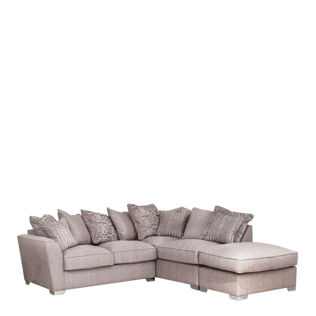 Memphis - Corner Sofa Bed LHF Pillow Back Including Free Footstool