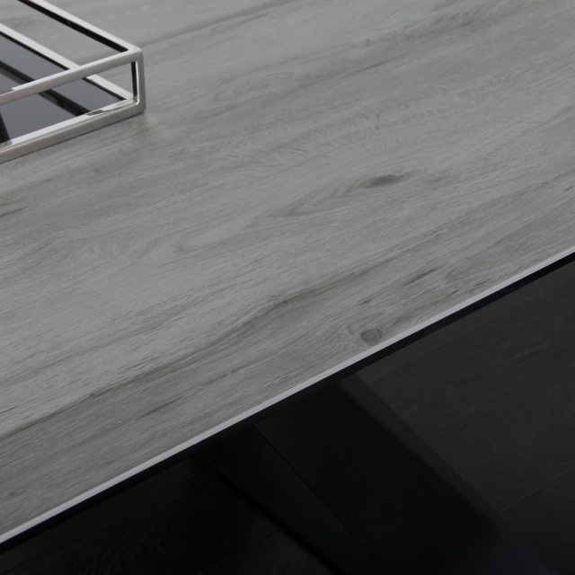 Conrad - 180cm Extending Dining Table Grey Wood Effect Ceramic Top