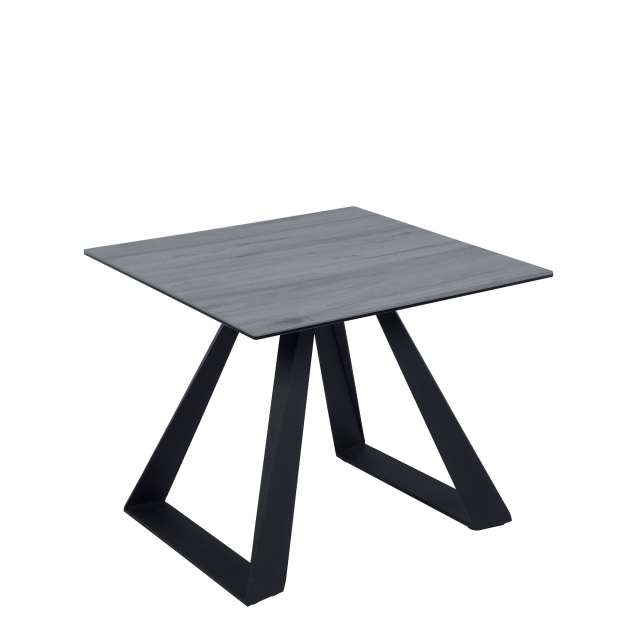 Conrad - Lamp Table Grey Wood Effect Ceramic Top