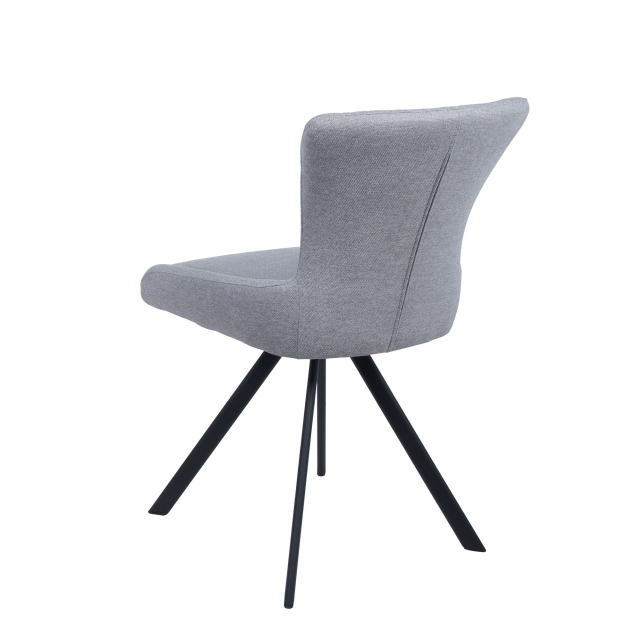 Conrad - Swivel Side Chair In Light Grey Fabric
