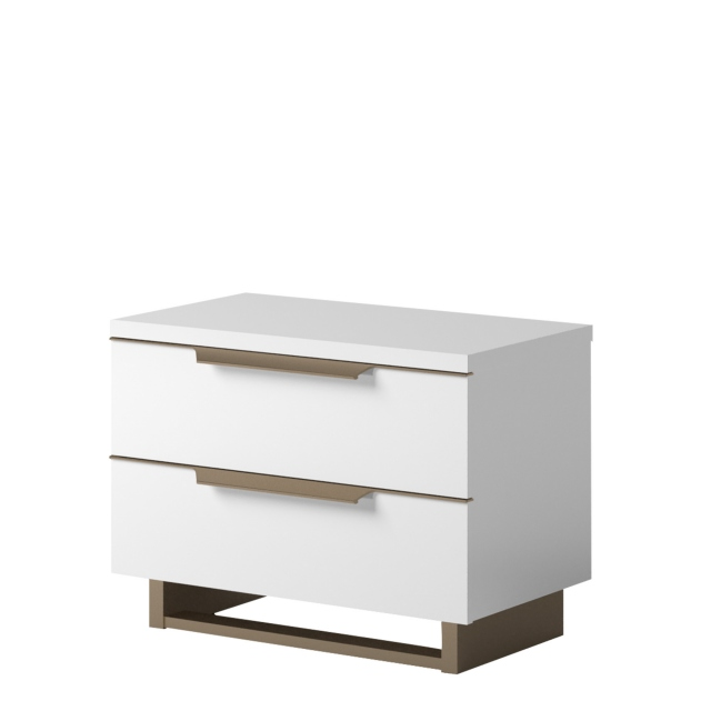 Sahara - Mini Night Table In White Gloss Finish