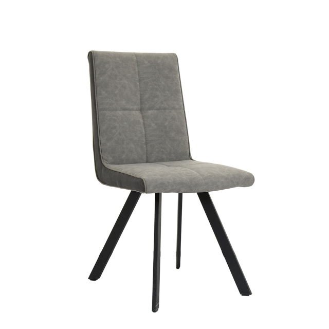 Pedro - Dining Chair In Vintage Dark Grey Fabric