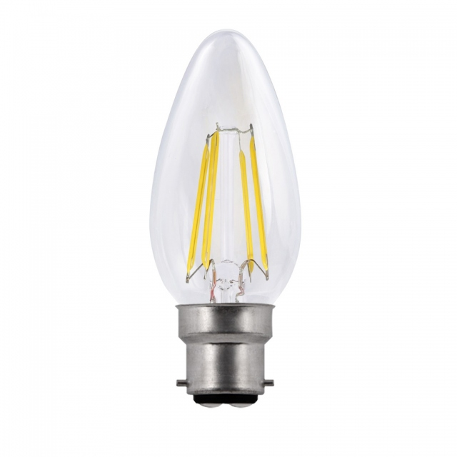 LED Candle 5w BC Warm White Dimmable