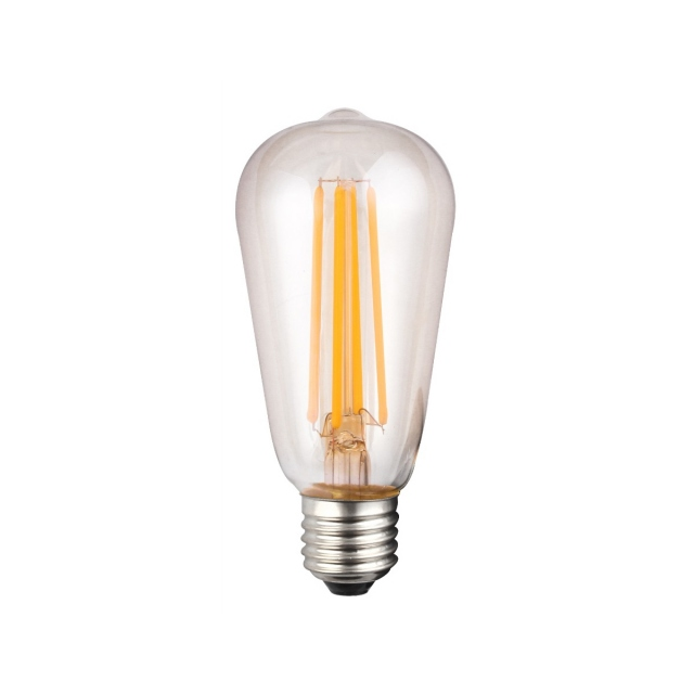 LED Vintage Valve Bulb 8w ES Clear Warm White Dimmable
