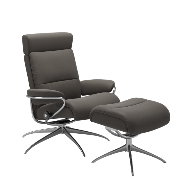 Stressless Tokyo - Chair With Footstool With Headrest With Star Base