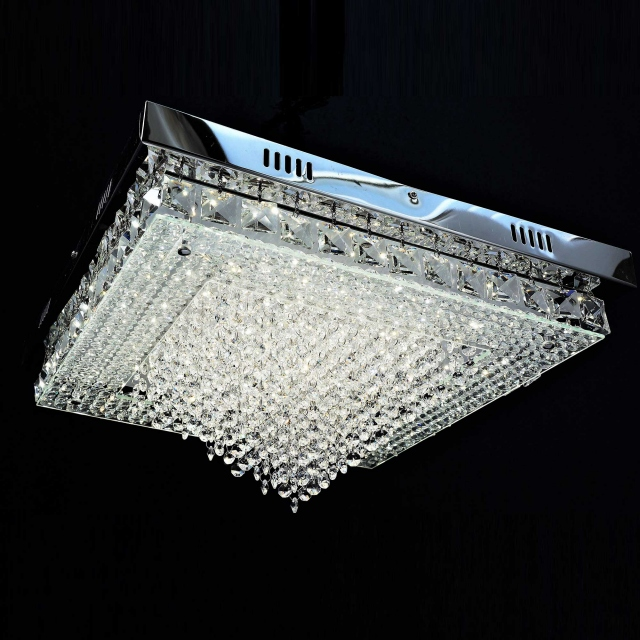 Regal LED Crystal Flush Square