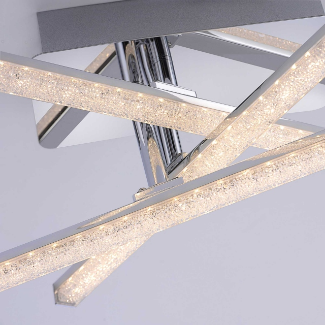 Stix LED 3 Flush Crystal Design