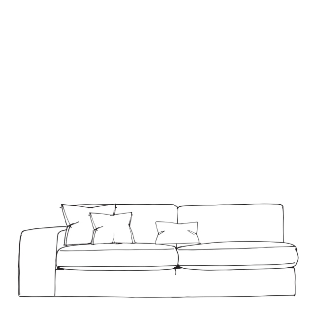 Cloud - 2 Seat Sofa 1 Arm LHF In Fabric
