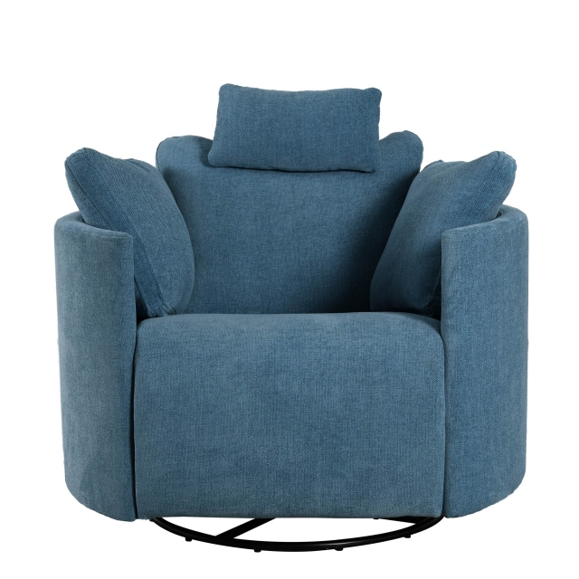 Bilbao - Swivel And Rocking Relax Chair (With Motor) In Fabric