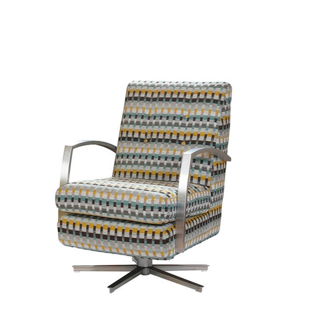 Lola - Swivel Chair In Fabric
