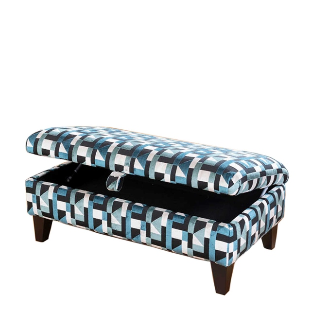 Lola - Legged Ottoman In Fabric