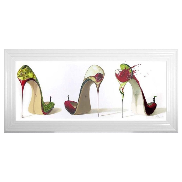 Scarpe Da Cocktail Heel In White 3 Step Frame
