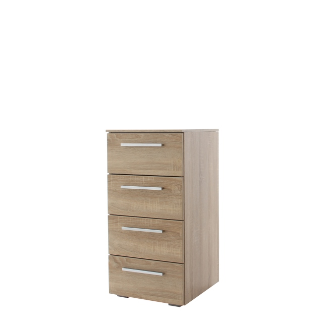 40cm 4 Drawer Chest Colour Front In A022K Sonoma Oak - Charlton