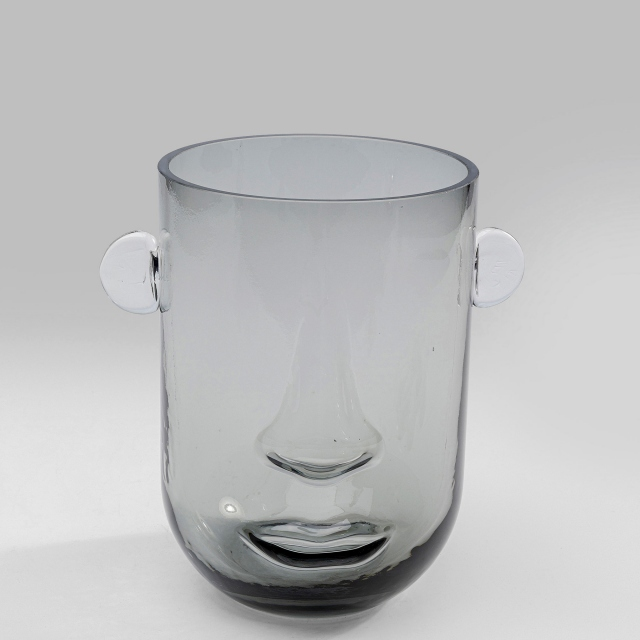 Face Vase Grey Small