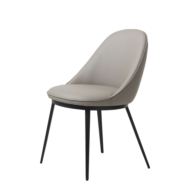 Brampton  - Dining Chair In Black PU