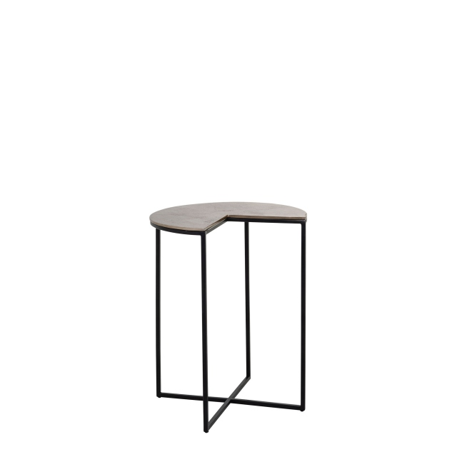 Exham - Corner Side Table In Champagne Gold Finish