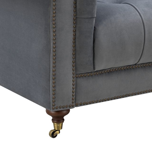 Churchill - 3.5 Seat Sofa In Fabric Velvet