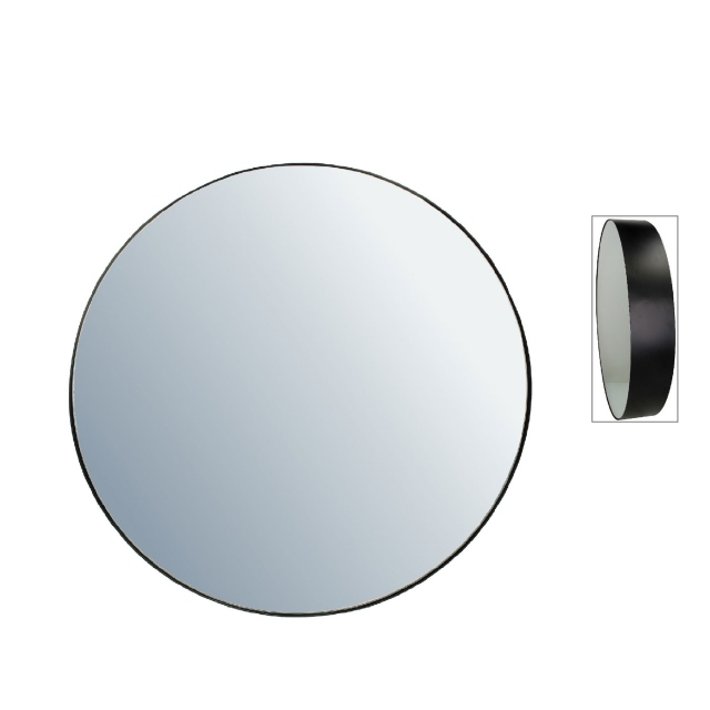 Danny Round Mirror Large Black