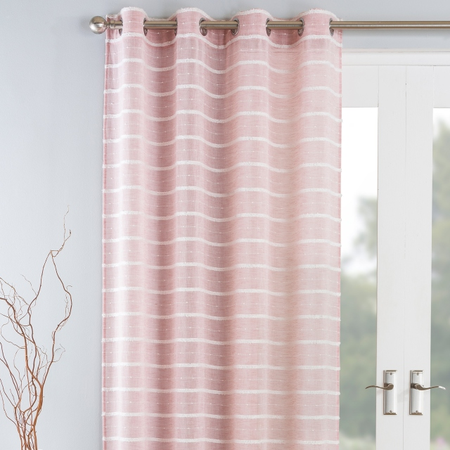 Antigua Eyelet Headed Voile Panel Blush