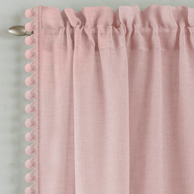 Tahiti Slot Headed Voile Panel Blush