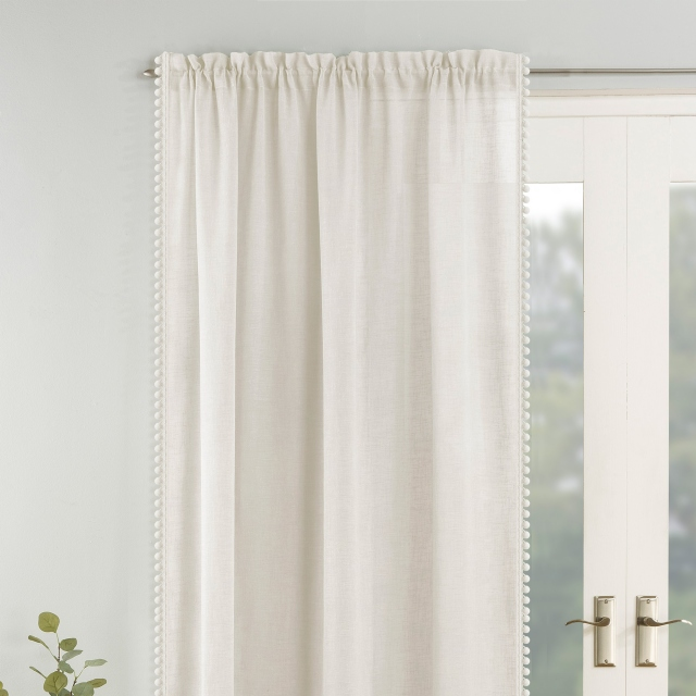 Tahiti Slot Headed Voile Panel Cream