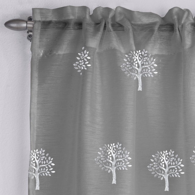 Birch Slot Headed Voile Panel Grey