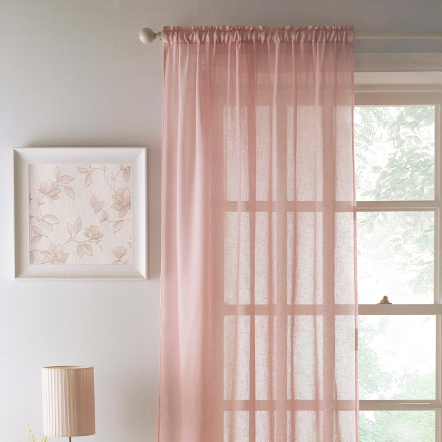 Eden Slot Headed Voile Panel Blush