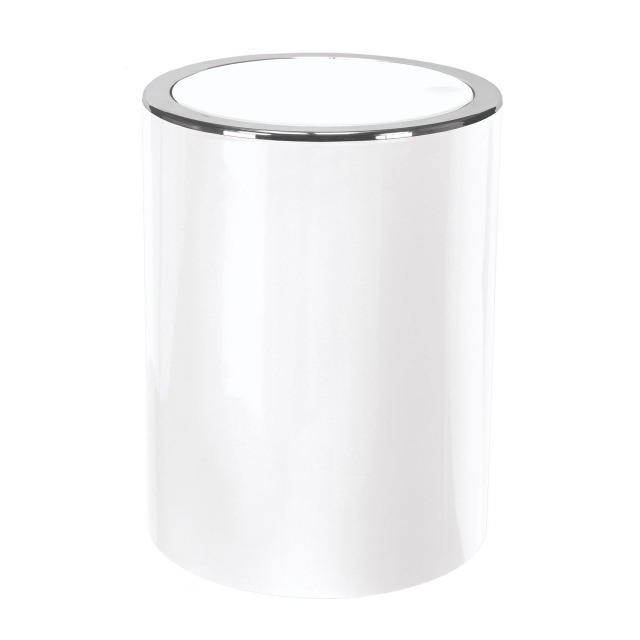 Tap Swingtop Bin White