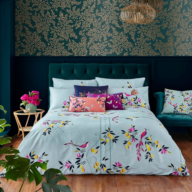 Sara Miller Bird & Gate Duckegg  Duvet Set