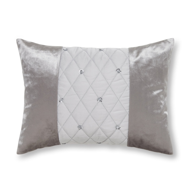 Catherine Lansfield Sequin Cluster Silver Cushion 30x40