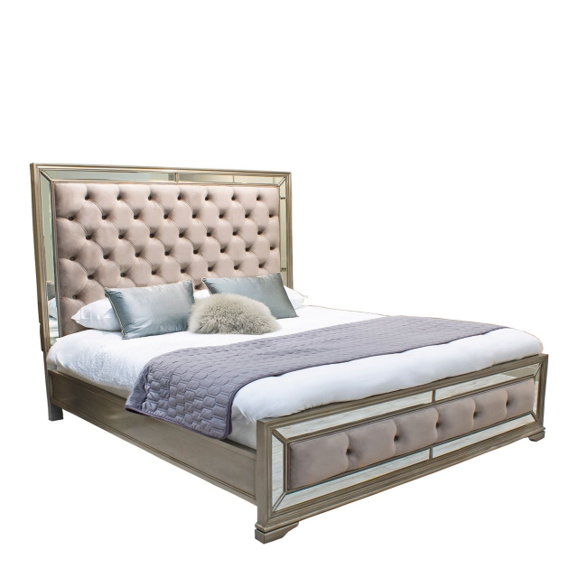 Royale - Bed Frame Eucalyptus/Deep Buttoned