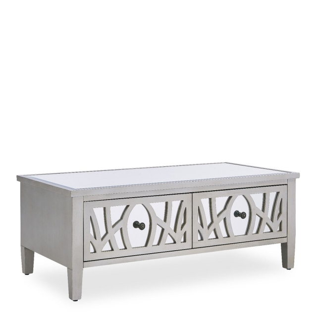 Coffee Tables - Silver Paint & Mirror - Simone