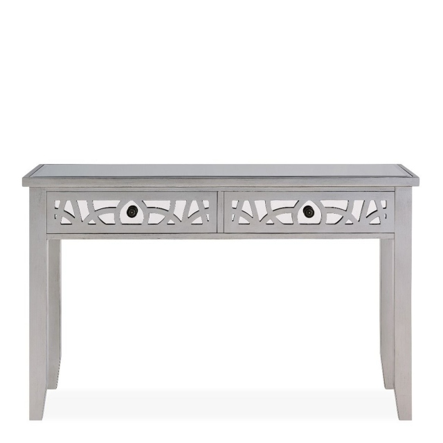 Console Table - Silver Paint & Mirror - Simone
