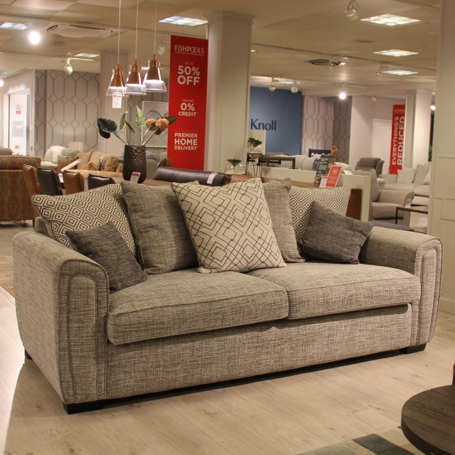 Grand Pillow Back Sofa - Item As Pictured - Seville