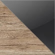 Sanremo Oak Carcase & Basalt Colour Glass Front A019