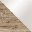 Sanremo Oak Carcase & Silk Grey Colour Glass Front A018