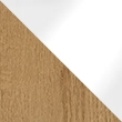 Riviera Oak with White Glass 7068