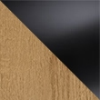 Riviera Oak with Black Glass 7042