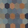 9039 Tangerine Navy Honeycomb Hexagon