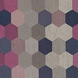9036 Fuchsia Navy Honeycomb Hexagon